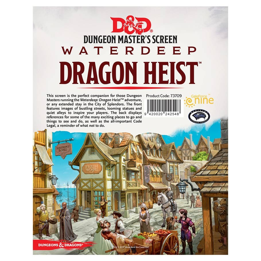picture about Printable Dm Screen identified as DD: Dragon Heist: DM Display screen