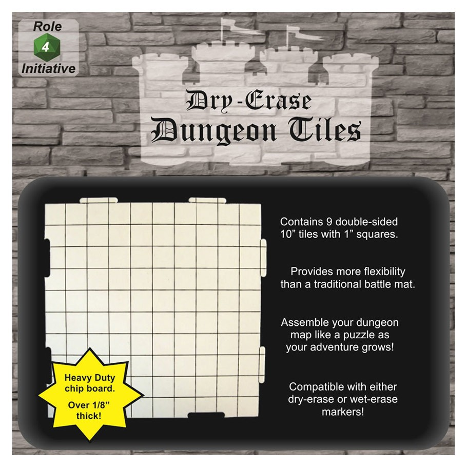 10 Dry Erase Interlk Dungeon Tiles 9