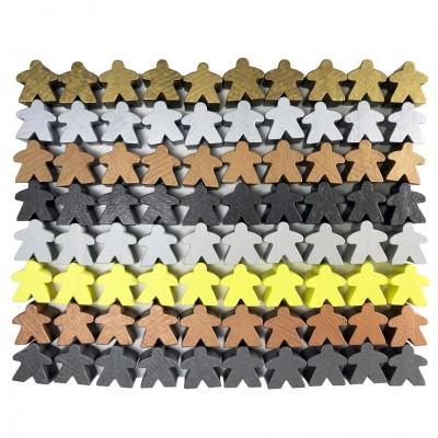 Metallic Color Wooden Meeples (80)