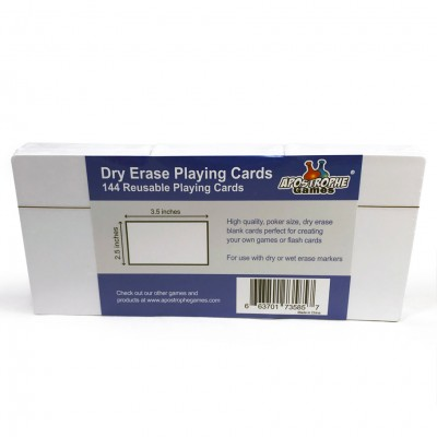 "Blank: Dry Erase Cards 2.5""x3.5"""