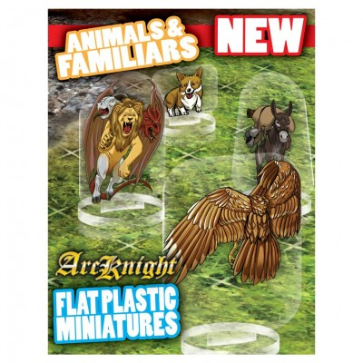 Flat Plastic Mini: Animals & Familiars