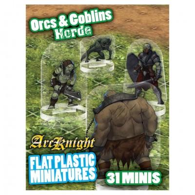 Flat Plastic Minis: Orcs & Goblins Horde