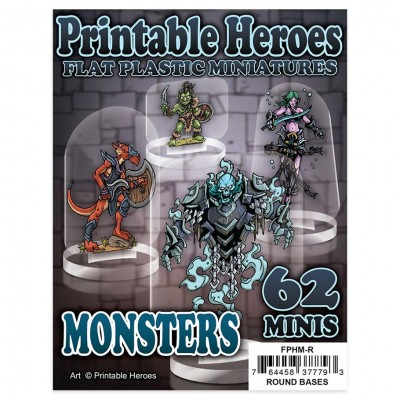 Flat Plastic Minis: Print: Monsters Pack