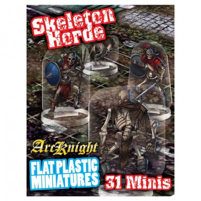 Flat Plastic Mini: Skeletons Horde