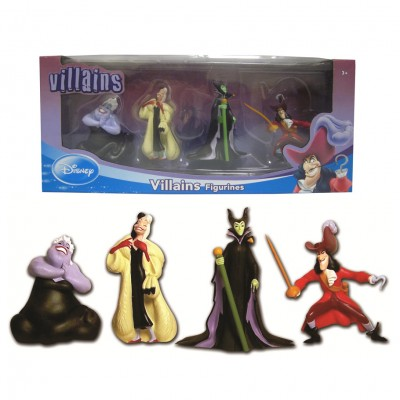 Disney Villains Figurines 4 Pack