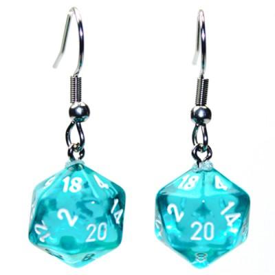 Hook Earrings TR TL Mini d20