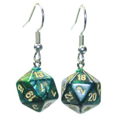 Hook Earrings SCB JD Mini d20 Pair