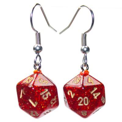 Hook Earrings GLT Ruby Mini d20