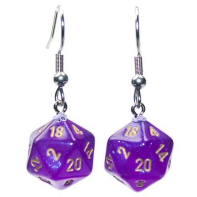 Hook Earrings BOR RYL PU Mini d20