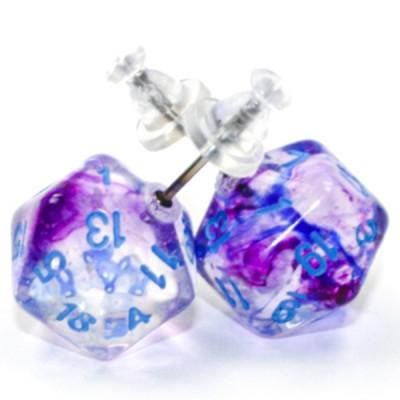 Stud Earrings NB Nocturnal Mini d20