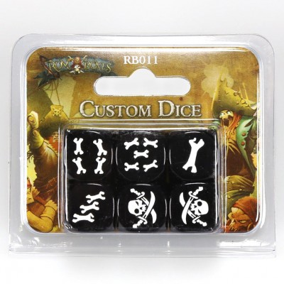 R&B: Black Custom Dice (6)