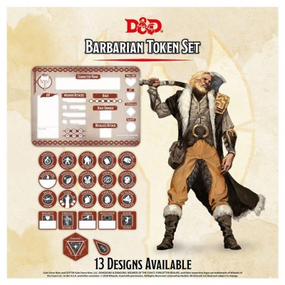 D&D: Character Tokens: Barbarian
