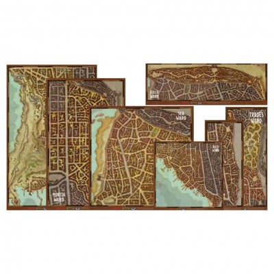 D&D: Waterdeep Wards Map Set