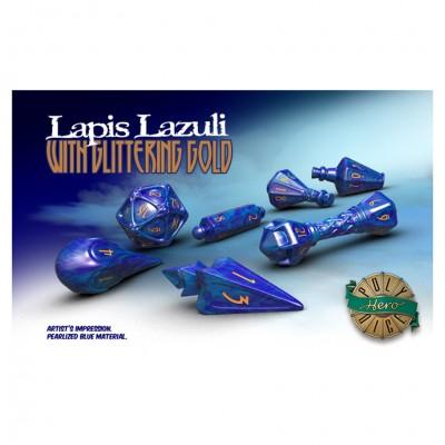 Dice: Wizard Lapis Lazuli/Gold
