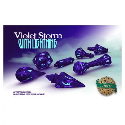 Dice: Wizard Violet/Lightning