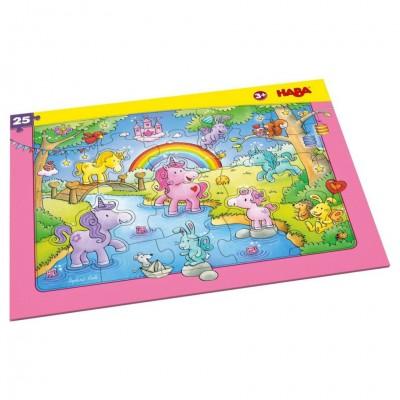 Puzzle: Unicorn Glitterluck Frame 25pc