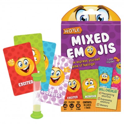Child Card Games: Mixed Emojis