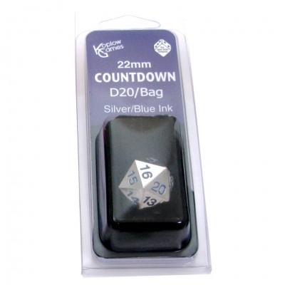 Countdown D20 22MM Metal with Bag SVbu