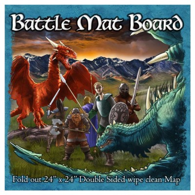 Battle Mat Board Dungeon and Grassland
