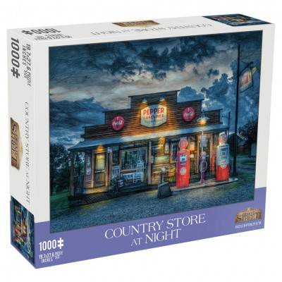 Puzzle: Country Store At Night 1000pc
