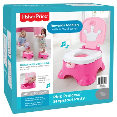 FP: Stepstool Potty: Pink Princess (2)