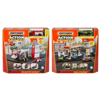 MB: Action Drivers Playset Ast (4)