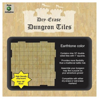 "Dungeon Tiles: Earthtone: 10"" Square (9)"