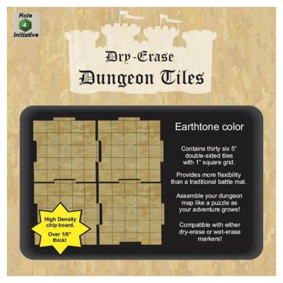 "Dungeon Tiles: Earthtone: 5"" Square (36)"