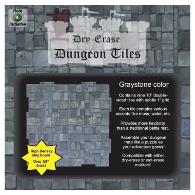 "Dungeon Tiles: Graystone: 10"" Square (9)"