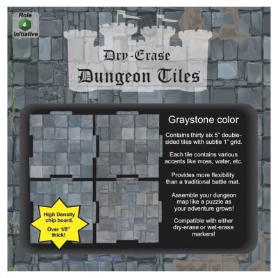 "Dungeon Tiles: Graystone: 5"" Square (36)"