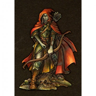 MS: Female Elf Ranger Flat Relief