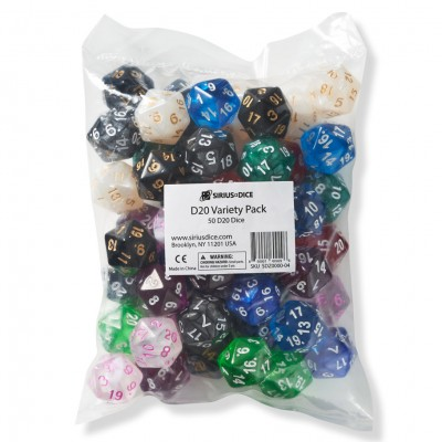 d20 Variety Pack Ast (50)