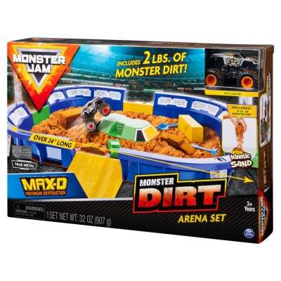 Monster Jam Kinetic Dirt Arena Plyst (3)
