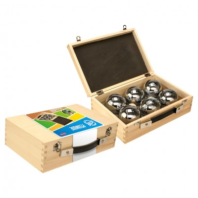 Petanque in Wooden Box