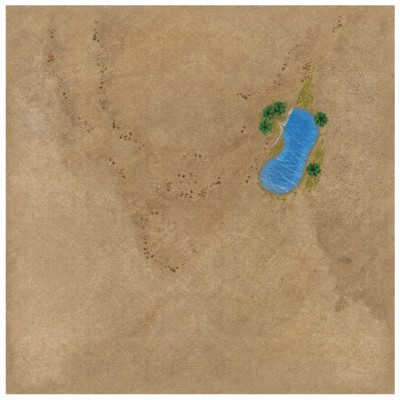"TANKS: Desert Game Mat 36"" x 36"""