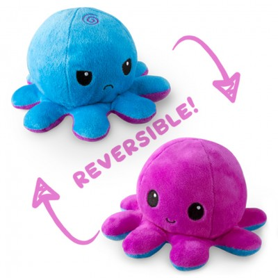 Reversible Octopus Mini Plush: PU & BU