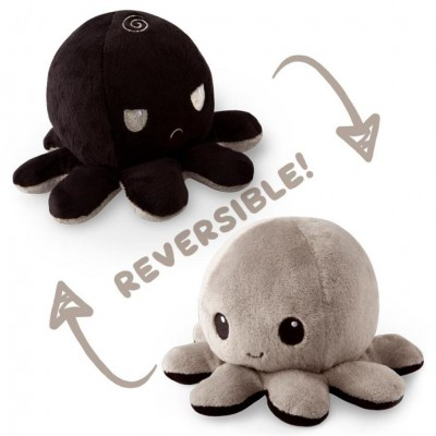 Reversible Octopus Mini Plush: BK & GY