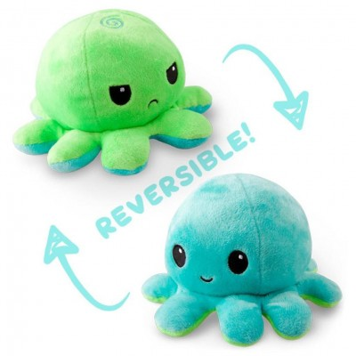 Reversible Octopus Mini Plush: GR & AQ