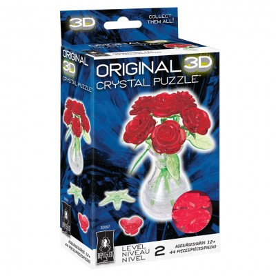 3D Crystal Puzzle - Roses