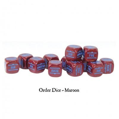 BA: Orders Dice - Maroon