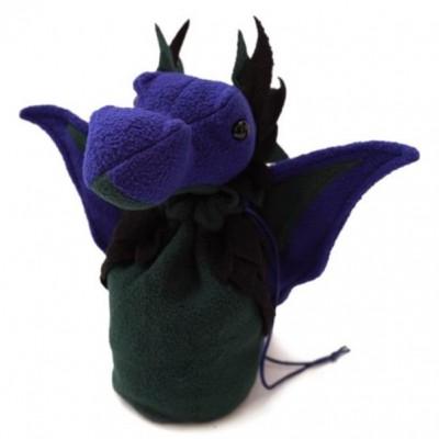 Dice Bag: Dragon Bagons Purple-Green