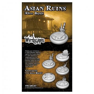 Asian Ruins: 30mm Bases (5)