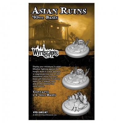 Asian Ruins: 40mm Bases (2)