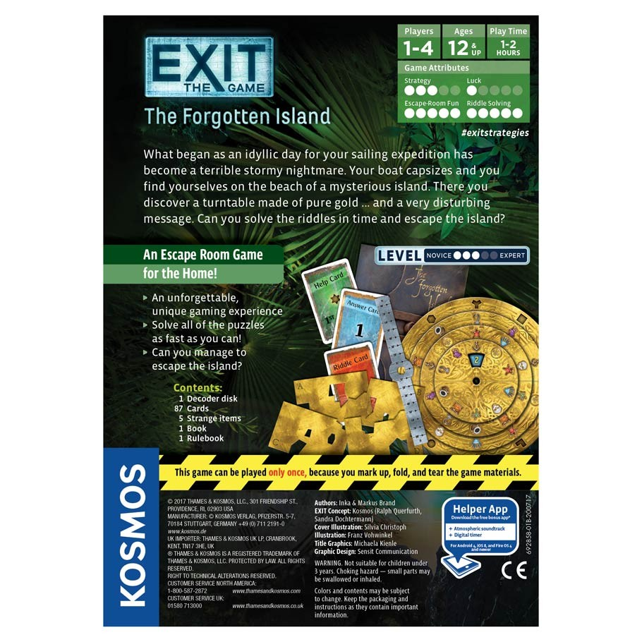 Amazon.com: Exit: The Forgotten Island | Exit: The Game ...