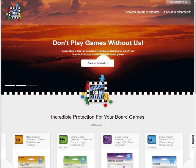Board Game Sleeves Site